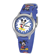 personalized blue disney mickey watch