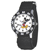 personalized woven strap mickey mouse watch