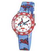 personalized marvel blue red spiderman watch