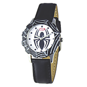 personalized leather strap marvel spiderman watch