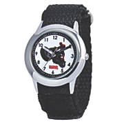 personalized marvel black strap spiderman watch