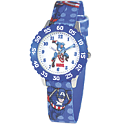 personalized marvel blue captain america watch