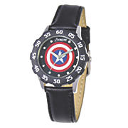 personalized marvel captain america leather strap watch
