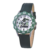 personalized green black leather strap marvel hulk watch