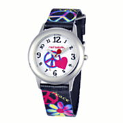 personalized heart peace sign watch