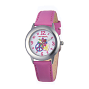 personalized pink peace sign watch