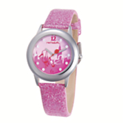 personalized pink sparkle watch