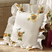 sunflower quilted decorative pillow