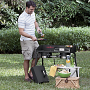 Explorer 2 Burner Stove Cast Iron Grill Griddle and Barbecue Grill Box