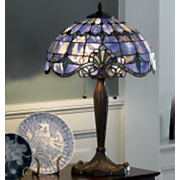 Shades of Beauty Multicolored Stained Glass Lamp