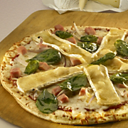 Brie, Ham And Spinach Pizza