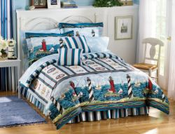 Lighthouse Bedding and Window Treatments