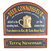 Beer Connoisseur Sign and Nameboard