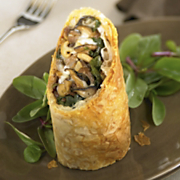 Duck Wild Mushroom and Wisconsin Fontina Cheese Strudel