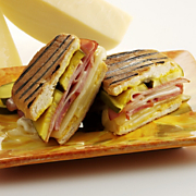Grilled Cuban Ham Sandwich with Wisconsin Swiss Cheese