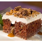 Chocolate Toffee Bar Cake Recipe