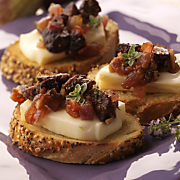 Bruschetta With Wisconsin Limburger Figs And Grilled Onions