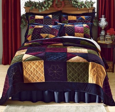 Velvet Patch Quilt and Sham
