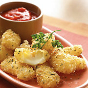 Wisconsin Cheddar Cheese Curds with Roasted Tomato Coulis