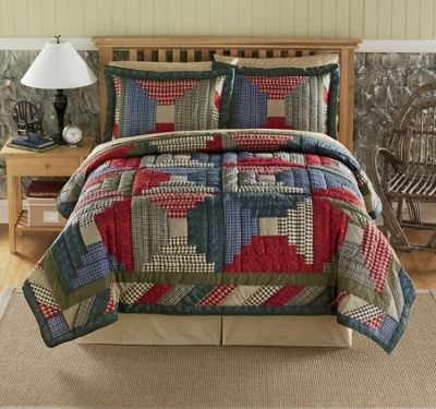 Log Cabin Quilt And Sham