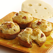 Tunnel of Cheese Muffins with Wisconsin Emmentaler Swiss Cheese
