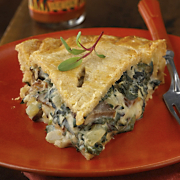Wild Mushroom Pie With Smoked Baby Swiss Crust