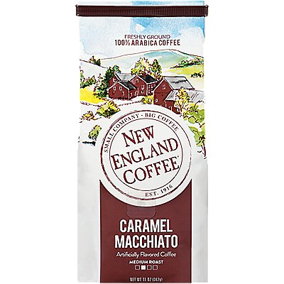 New England Coffee Caramel Macchiato Coffee 11 Oz. Ground Coffee