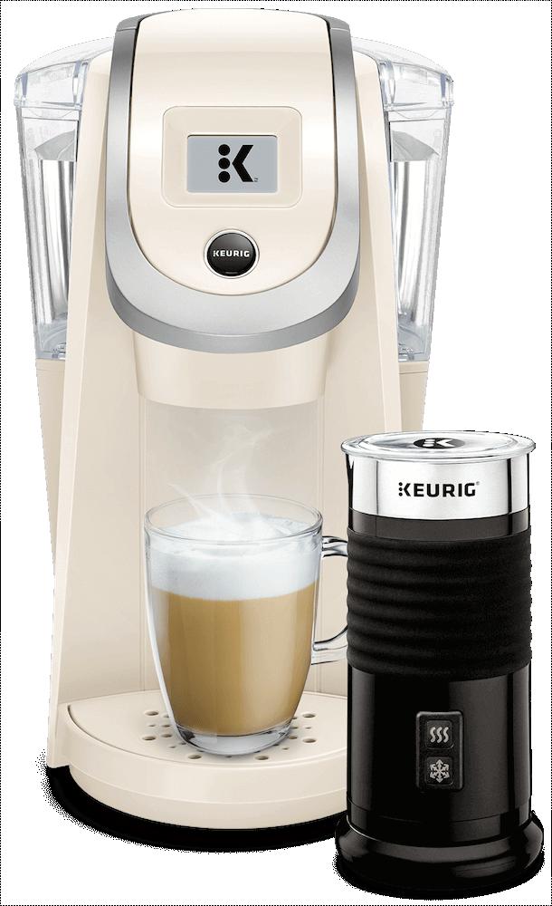 K200 Coffee Maker (Sandy Pearl) + Keurig<sup>®</sup> Milk Frother
