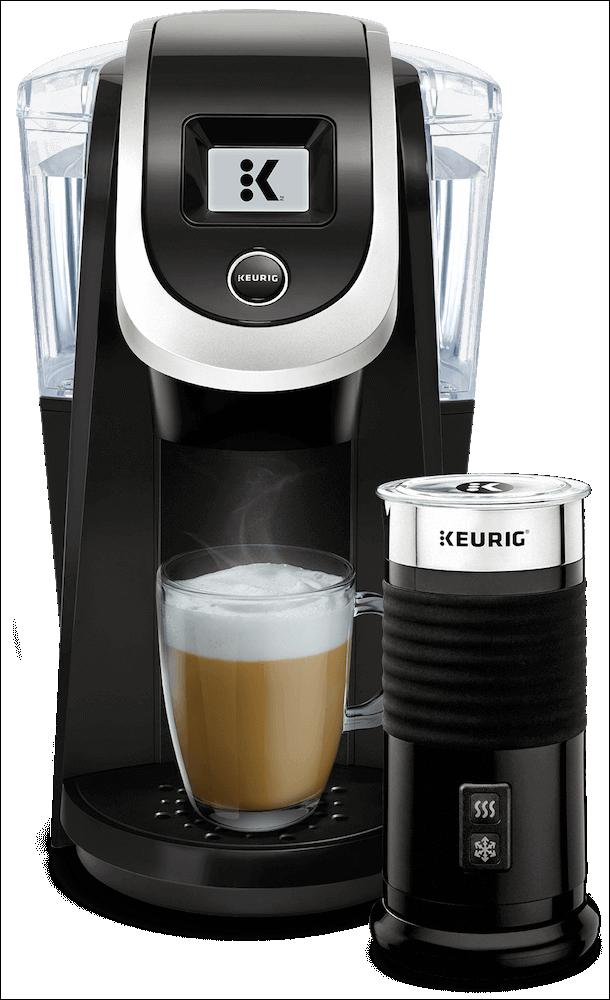 K200 Coffee Maker (Black) + Keurig<sup>®</sup> Milk Frother