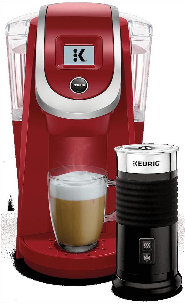 K200 Coffee Maker (Imperial Red) + Keurig<sup>®</sup> Milk Frother