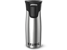Keurig® 14oz Red Stainless Steel Travel Mug
