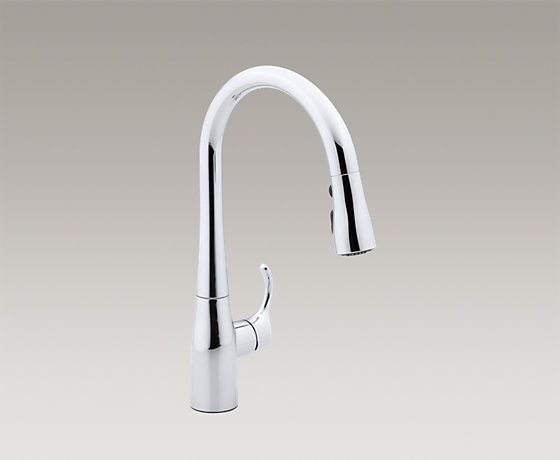 down faucets polished hole chrome canada pull on touch k sink simplice faucet cp kitchen single dp amazon kohler