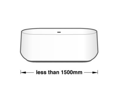 less than 1500 mm 浴缸