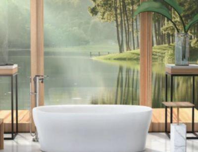 Karing® 1.6m Oval Lithocast Bath