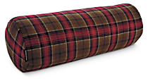 Wool Red Plaid Bolster Pillow