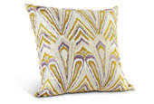 Flame pillow in citron
