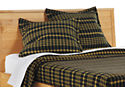 Washable Wool Euro Sham in Charcoal/Mustard Plaid