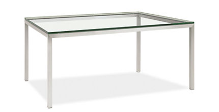 Portica portica table by the inch dining tables by the for Dining room tables 36 inch wide