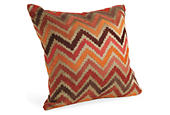 Chevron pillow in spice