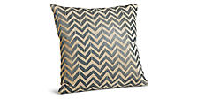 Herringbone 18w 18h Pillow in Ink