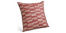 Stack 18w 18h Throw Pillow in Garnet
