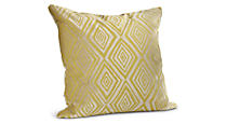 Galbraith & Paul Diamond 22sq Citron Pillow