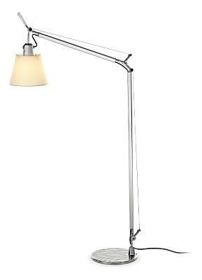 Tolomeo reading floor lamp with shade modern lighting for Tolomeo reading floor lamp with parchment shade