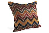 Chevron pillow ink
