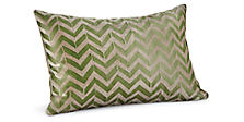 Herringbone 20w 13h Throw Pillow in Moss