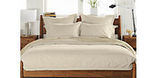 Top-Stitch Percale Full Bedding Ensemble in Stone