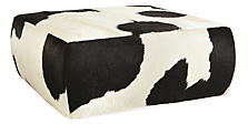 Lind Cowhide Ottomans