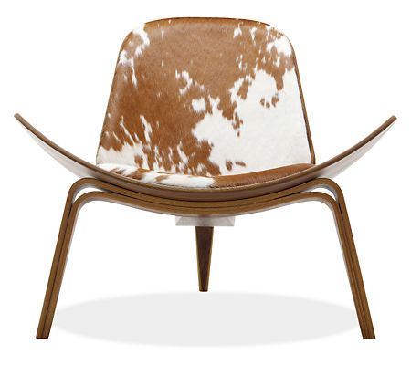Room and Board - Hans Wegner Shell Chair with Cowhide Leather
