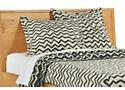 Jacquard Wool Zig-Zag Euro Sham in Ivory/Charcoal