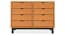 Copenhagen Custom 29h 39x16 Eight-Drawer Cabinet in Cherry w/NS Knobs